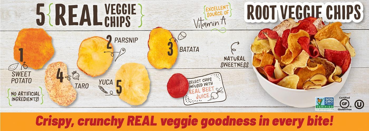 Crispy, Crunchy, Real Veggie Goodness In Every Bite!