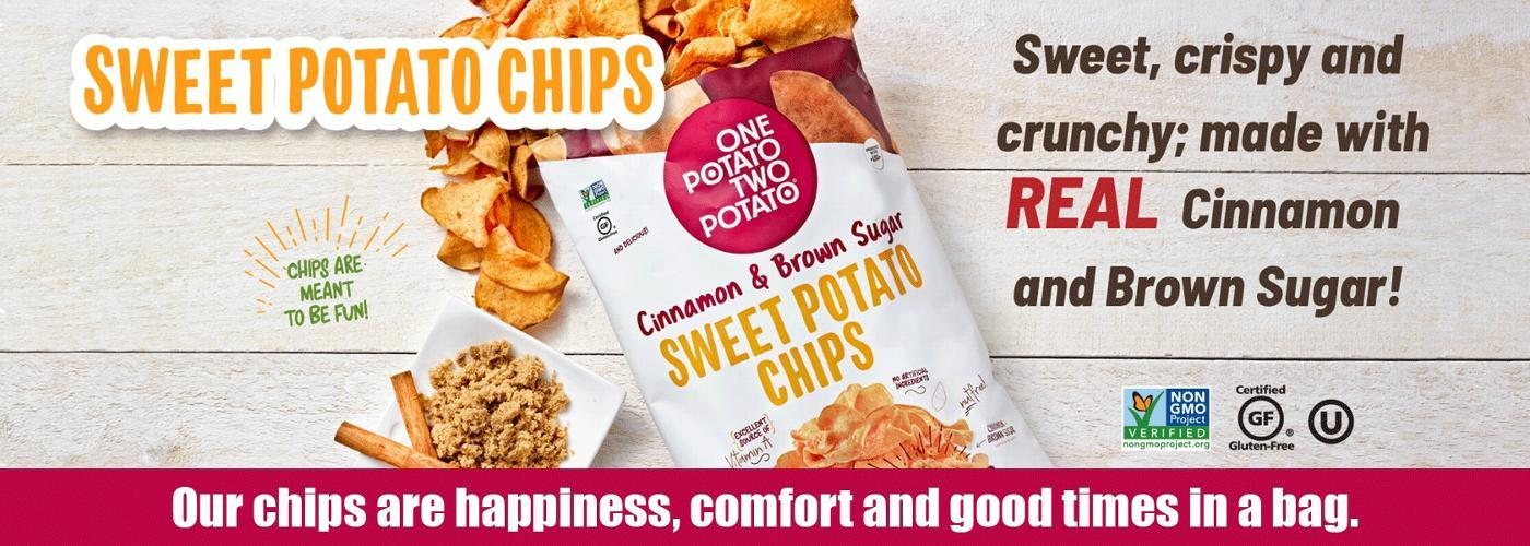 Our chips are happiness, comfort and good times in a bag.