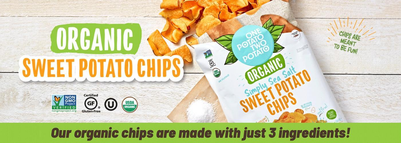 Our organic chips are made with just 3 ingredients!